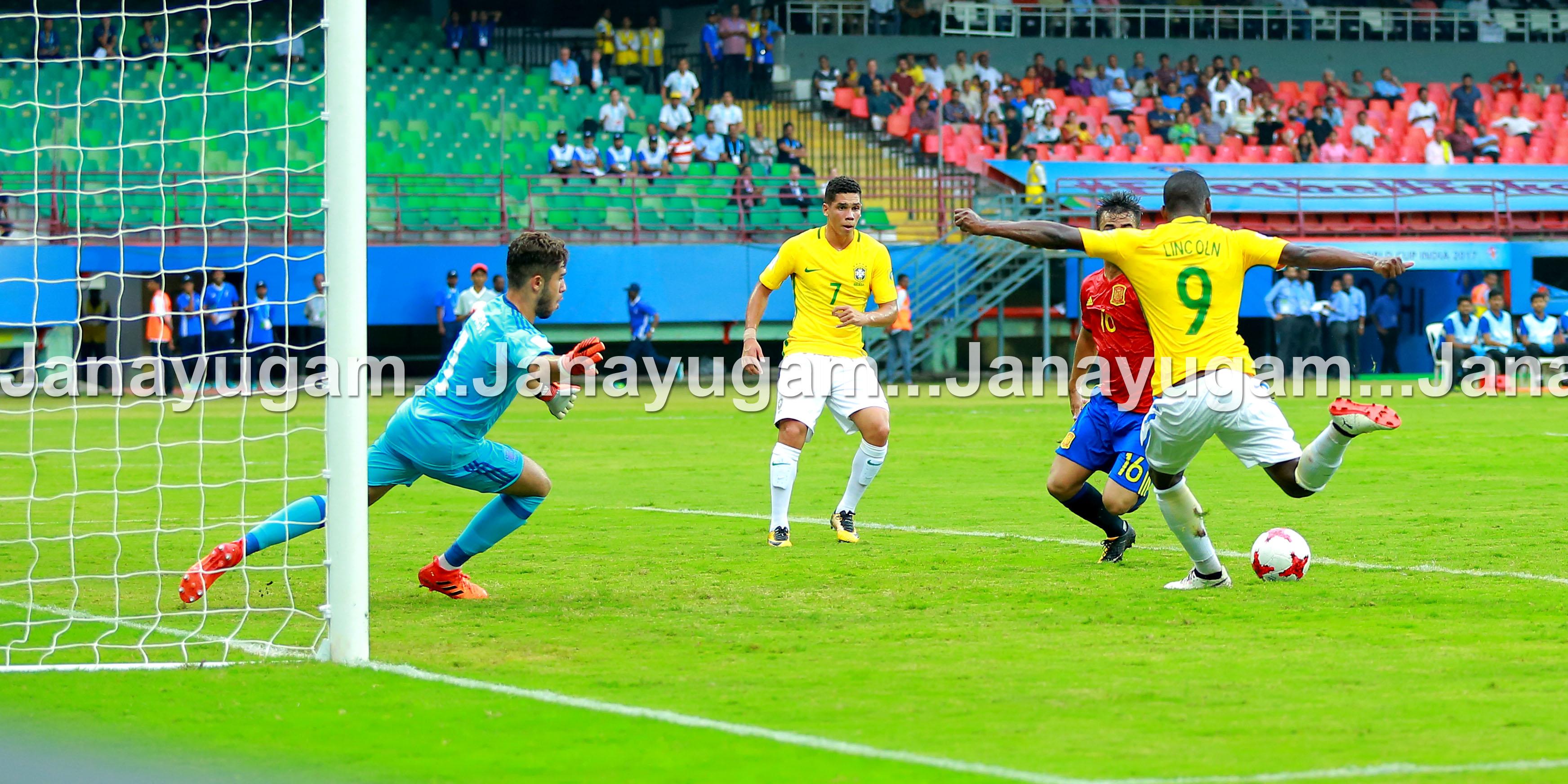ഫിഫ അണ്ടർ 17: ബ്രസീല് 2–1 ന് ജയിച്ചു