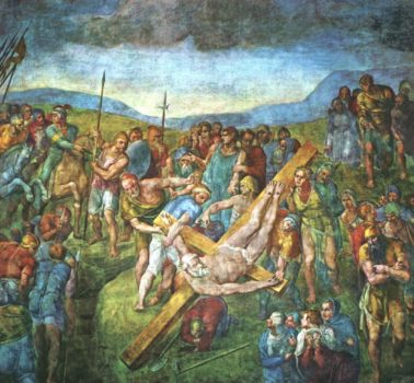 Michel angelo-The-Crucifixion-of-St-Peter